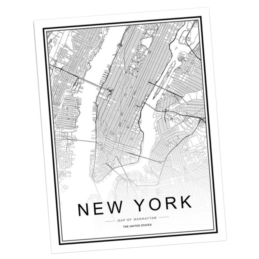 1# 21x30cm Homyl Nordic World City Map Boston New York London Paris Rome San Francesco Poster Art Canvas Painting Home Decor as described