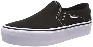 Vans Damen Asher Platform Sneaker Schwarz ((Canvas) Black 3sy) EU