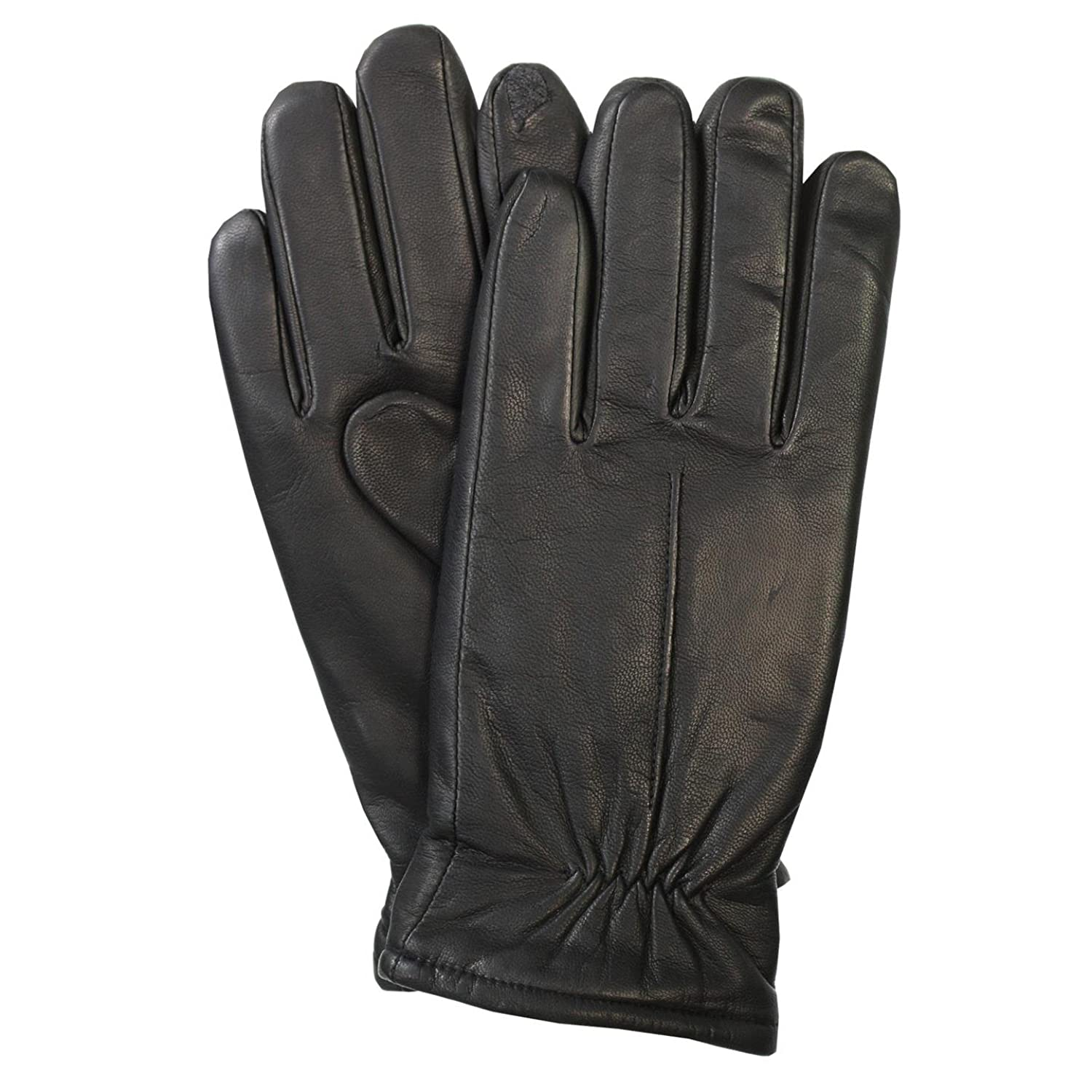 Mens gloves isotoner - Isotoner Mens Smartouch Technology Genuine Leather Gloves M Black At Amazon Men S Clothing Store