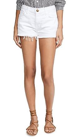 54d9507872 Current/Elliott Women's The Boyfriend Shorts, Sugar, White, 23 at ...