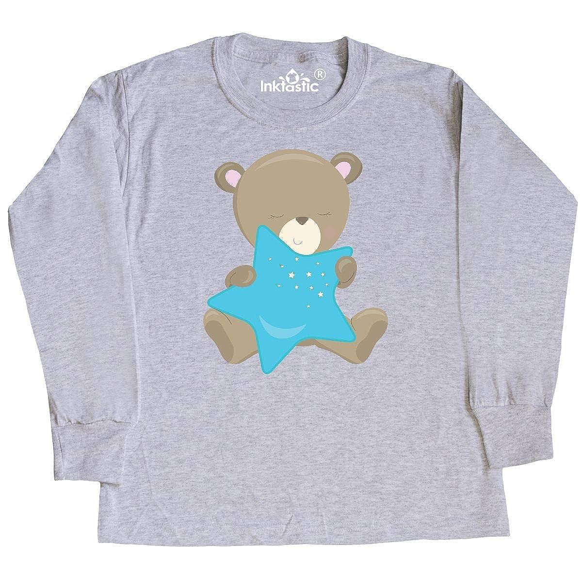 inktastic Cute Bear Holding Blue Star Baby T-Shirt