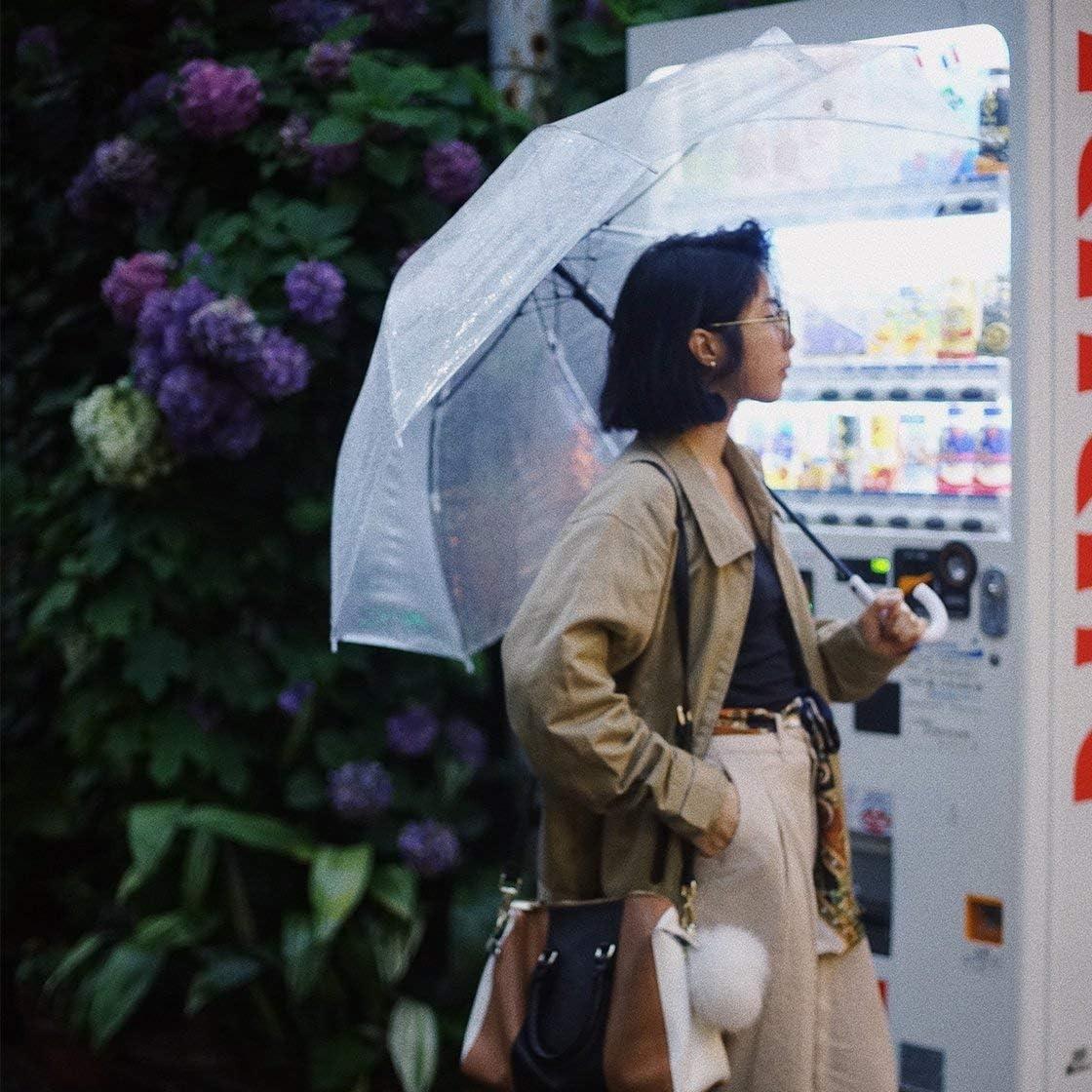 Gwendoll Parasol Automatique Clair Transparent de Parapluie de Mode pour la faveur de Noce