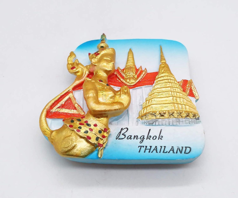 d/écoration de Maison et de Cuisine Souvenir MUYU Magnet Aimant de r/éfrig/érateur 3D Bangkok Tha/ïlande Collection Cadeau