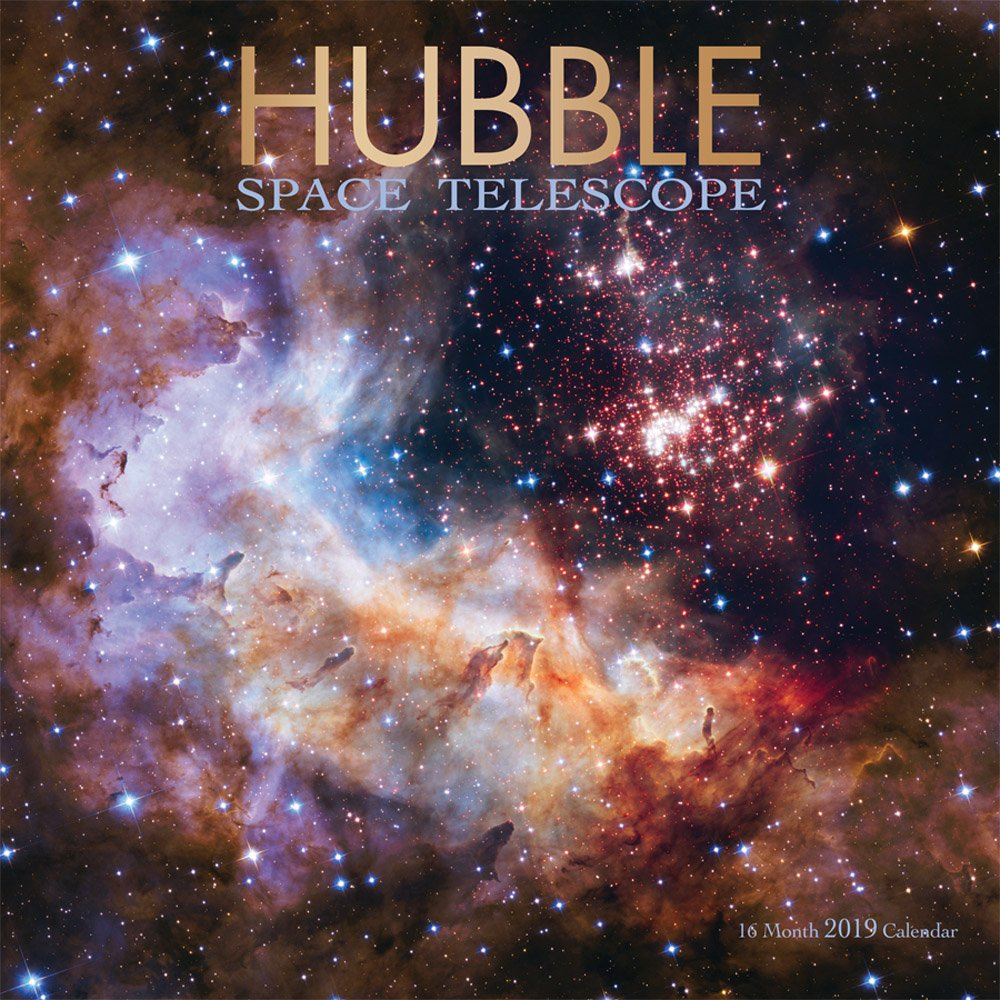 hubble space telescope 2019 12 x 12 inch monthly square wall calendar by wyman science space technology