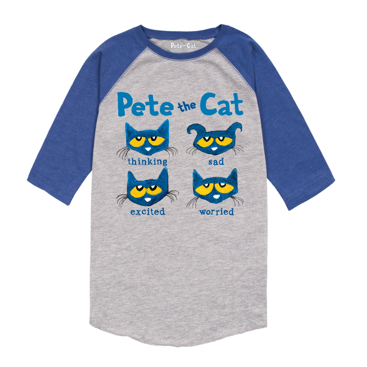 Pete the Cat The Faces of Pete-Toddler Raglan