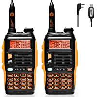 BaoFeng GT-3TP Radio Emetteur-Récepteur Talkie Walkie Orange/Noir