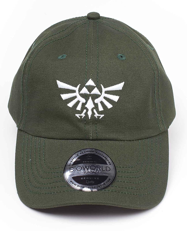 fb4bb2532 Amazon.com: Zelda Baseball Dad Cap Tri Force Hylian Crest Logo 2D ...