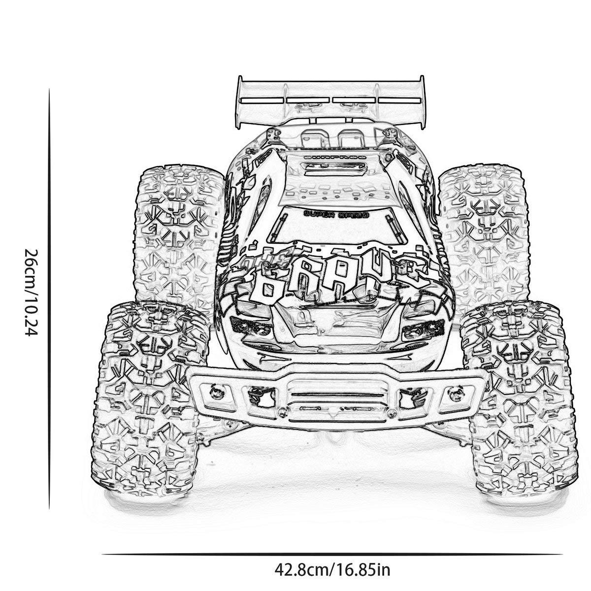 Gugutogo Gugutogo Gugutogo RC Car Thunder Wasserdichtes Geländewagen 1:12 Allrad-Hochgeschwindigkeitsmodellauto (Gold) 4578ac
