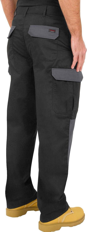 de Combate Disponibles en Negro con Bolsillos para Rodillera y Costuras reforzadas Azul Marino Gris//Negro y Negro//Gris ProLuxe Endurance Pantalones Tipo Cargo
