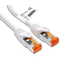 mumbi 20m Cat.6 Ethernet Lan Netzwerkkabel - Cat.6 FTP (RJ-45) 20 Meter Kabel in weiss