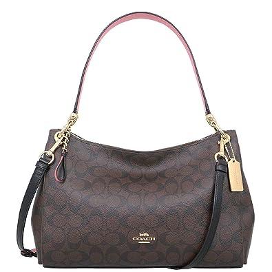 5525449848f6 Coach F28966 MIA Shoulder Bag in Refined Pebble Leather  Handbags   Amazon.com