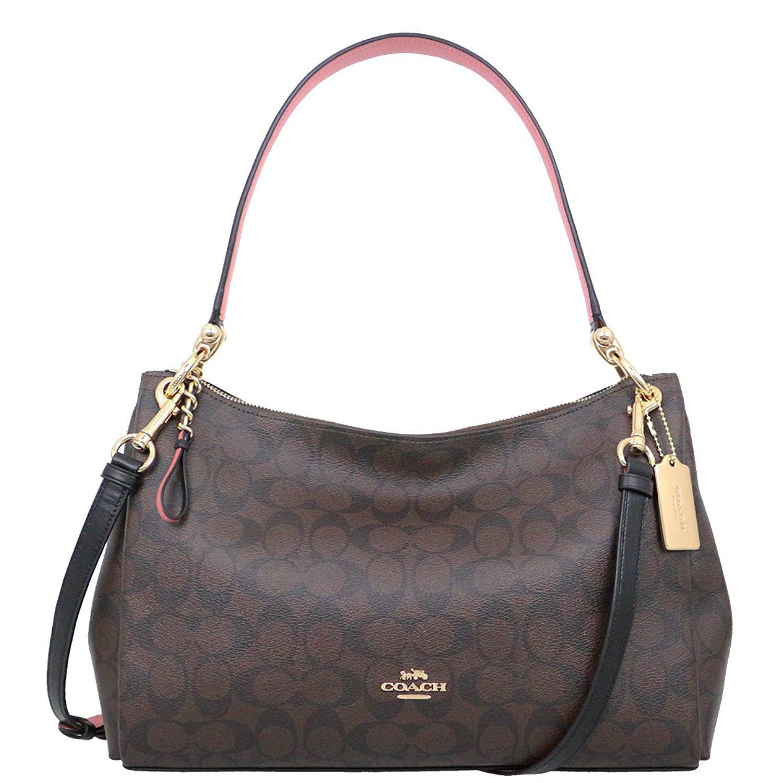 f549e2eac5da Coach F28966 MIA Shoulder Bag in Refined Pebble Leather  Handbags   Amazon.com