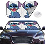 Not Applicable Car Sunshade,Li/_Lo Sti/_Tch Windshield Sunshade,Stylish Vehicle Front Windshield Sunshades For Automotive Vehicle Suv