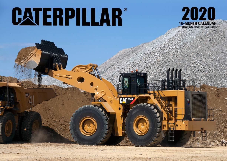 Calendar For 2020-16 Caterpillar 2020: 16 Month Calendar Includes September 2020