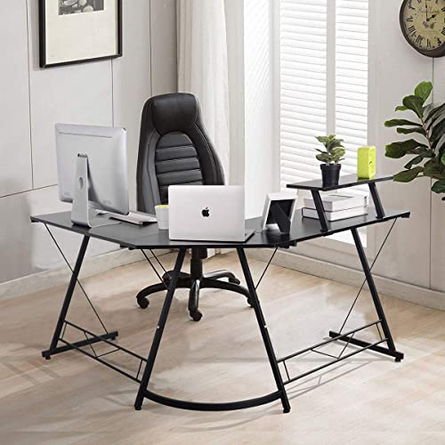 Computer Desk FurnitureR Modern L Shaped Corner Gaming Desk Workstation Study Desk