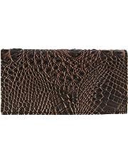 CTM Faux Croco Checkbook Cover Wallet
