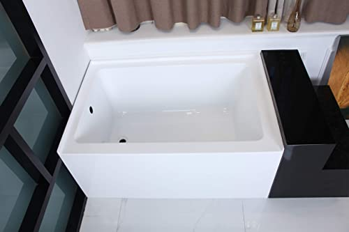 Kingston Brass VTDE483222L Ambry 48-Inch Acrylic Alcove Tub