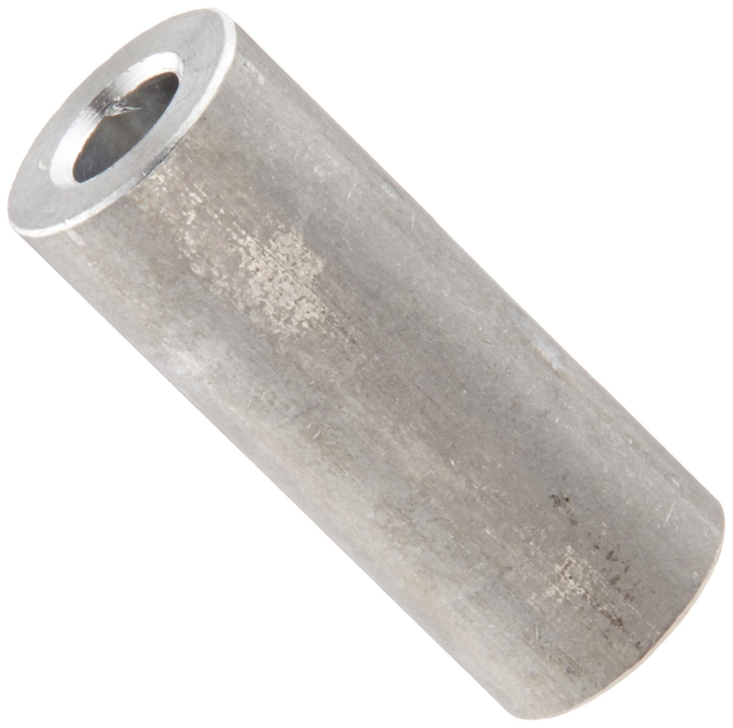 #6 Screw Size Plain Finish 1//4 OD 0.14 ID Aluminum Round Spacer 3//8 Length Pack of 25