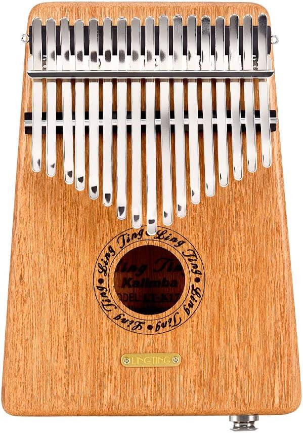 Gift for Kids Adult Beginners Professional with EQ LingTing LT-K17G//LT-K17GEQ 17 keys Kalimba Mbira Thumb Piano without EQ
