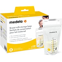 Medela Breast Milk Storage Bags, 100 Count, Ready to Use Breastmilk Bags for Breastfeeding, Self Standing Bag, Space…