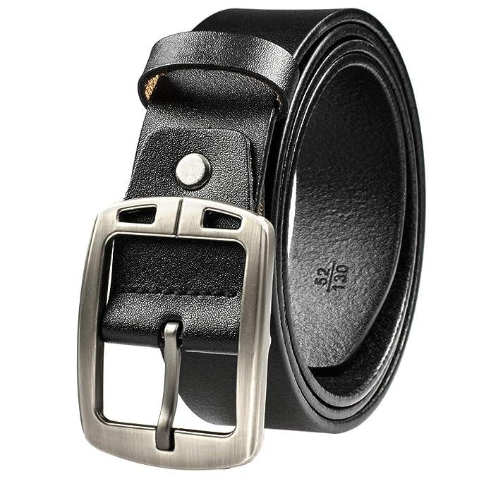 Amazon.com: Mancala - Cinturón de cuero para hombre, color ...