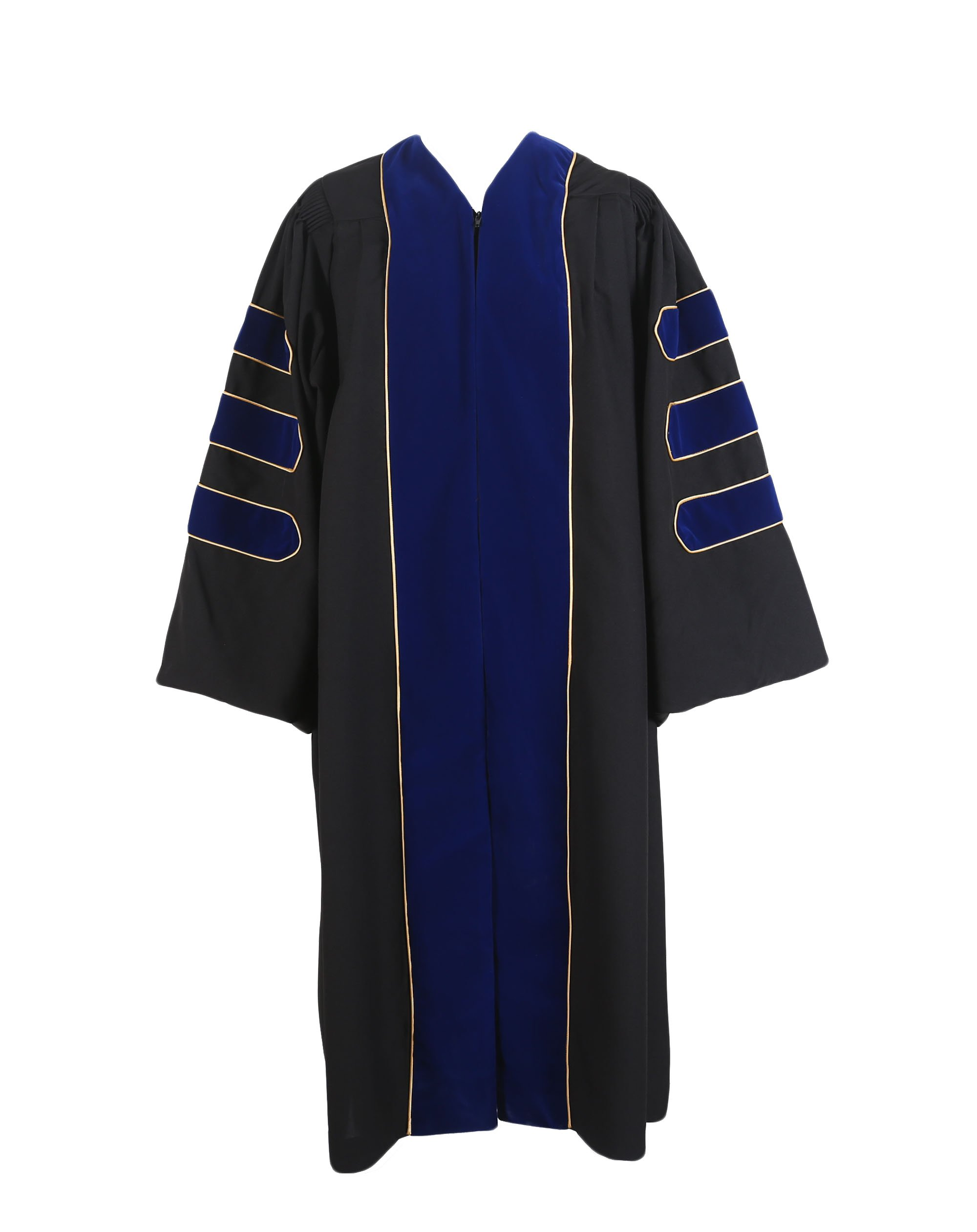 GraduationService Deluxe Doctoral Graduation Gown with Gold Piping Unisex by GraduationService