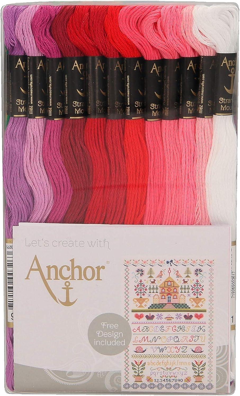 ANCHOR Algodón trenzado: 48 madejas, Colores variados, ASST ...