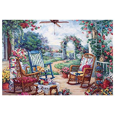 1000 Piece Jigsaw Puzzle Vintage Paintings Landscape Jigsaw Puzzles Large Puzzle Game Artwork for Kids and Adult: Clothing