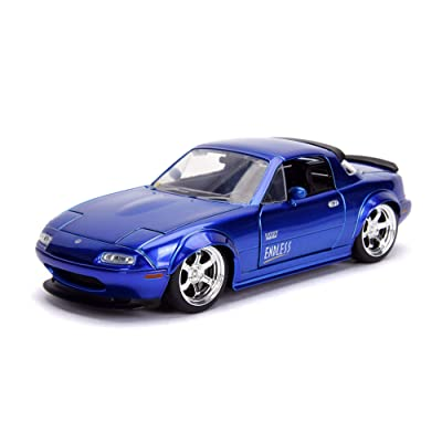1:24 JDM - '90 MAZDA MIATA, Blue: Toys & Games