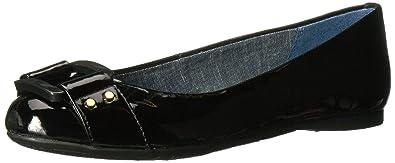 Dr. Scholl's Shoes Women's Glowing Flat, Black Patent, ...