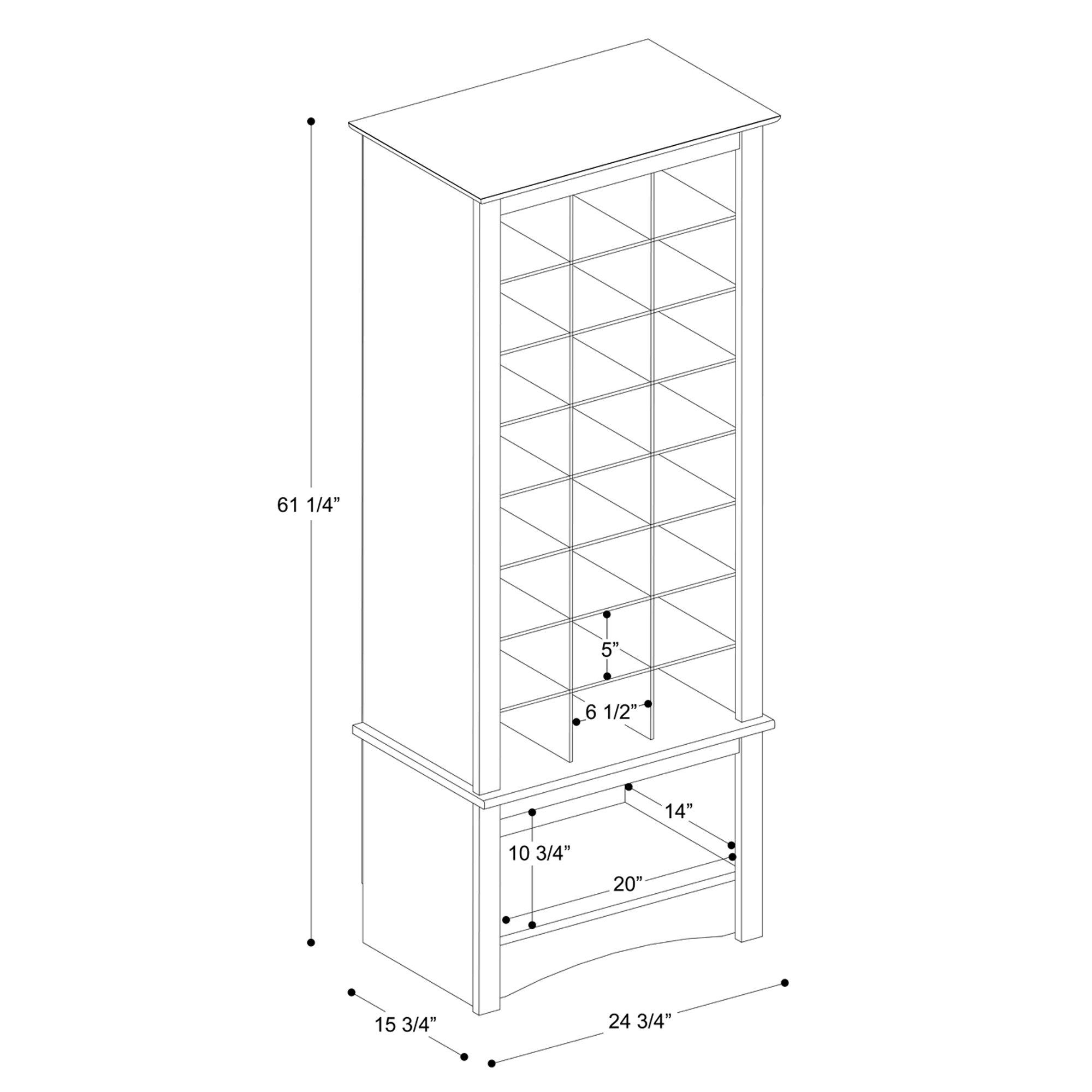 Espresso Tall Shoe Cubbie Cabinet by Prepac (Image #4)