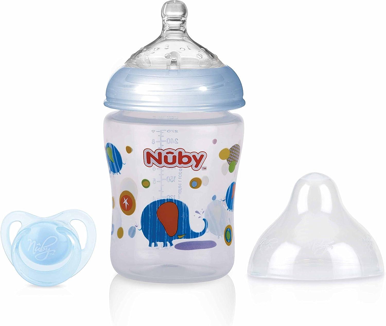 Nûby - Biberón anticólicos y chupete: Amazon.es: Bebé