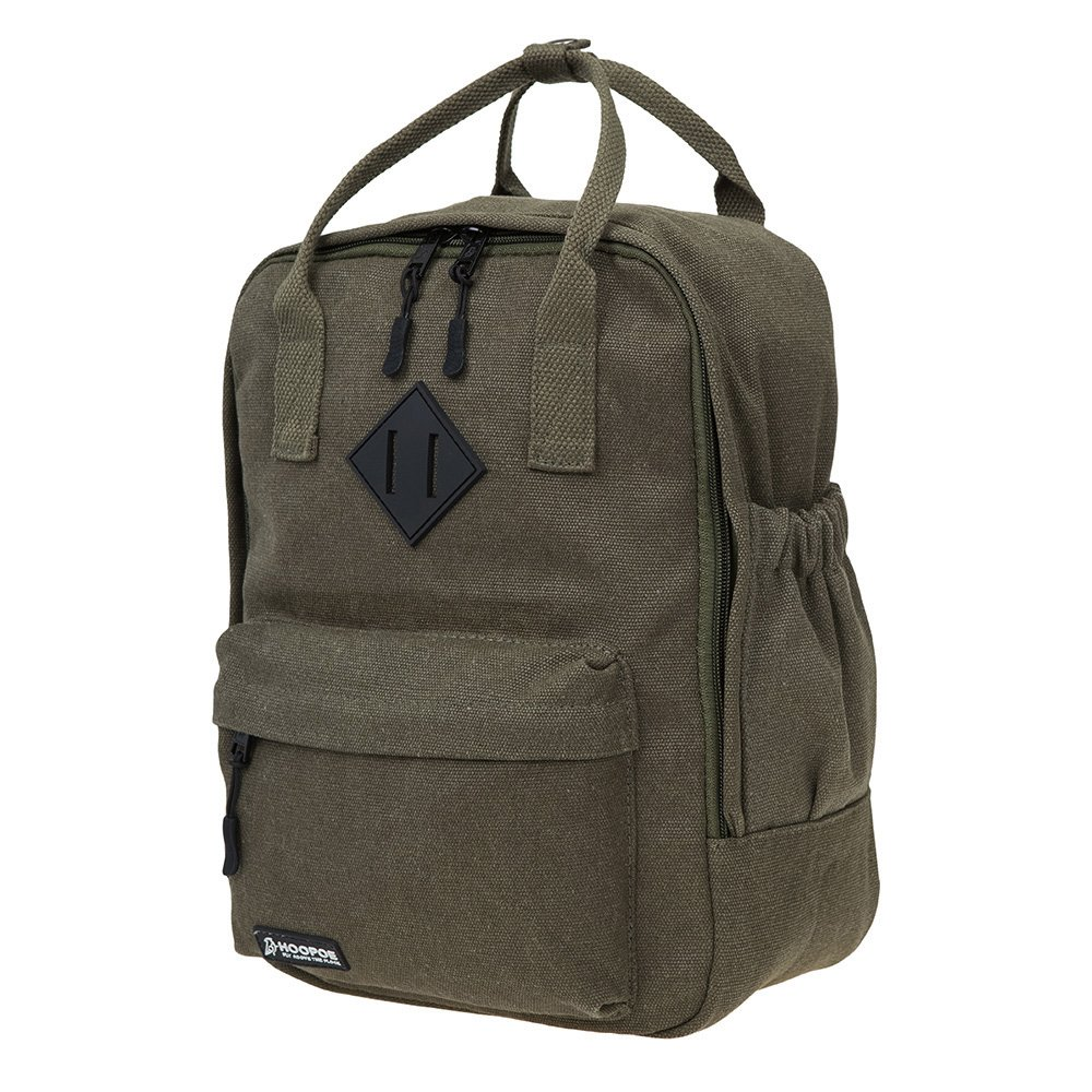 "9c51e9e435e HOOPOE Little-Xen Backpack, Army Green Water-Resistant Small Backpack with  Adjustable Shoulder Straps, Padded School Bag with 11"" Laptop Compartment  ..."