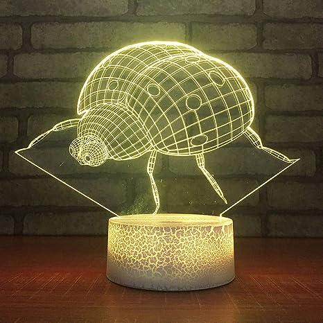GBBCD Luz nocturna 7 Colorido Usb Visual 3D Led Dormitorio Oficina ...