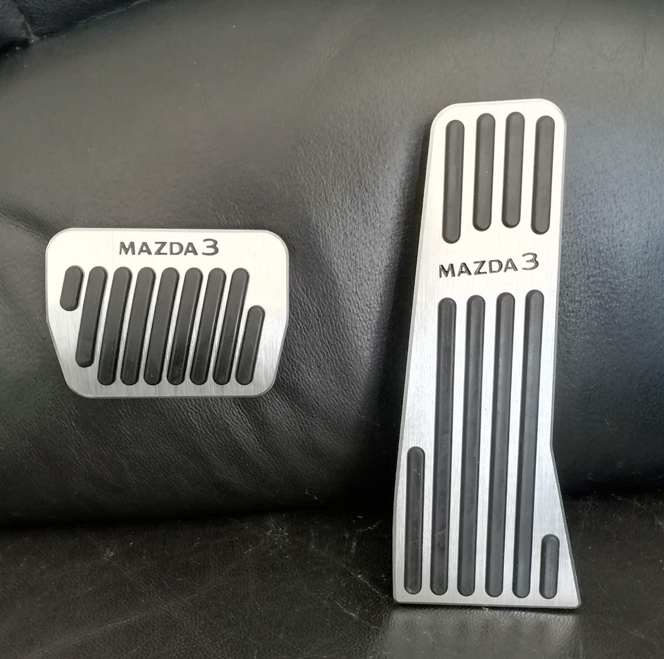 Brake Pedal Accelerator Pedal and Foot Rest Dead Pedal Covers Pads Set for Tesla Model 3 Easy Install Non Slip Performance Foot Pedal Protectors