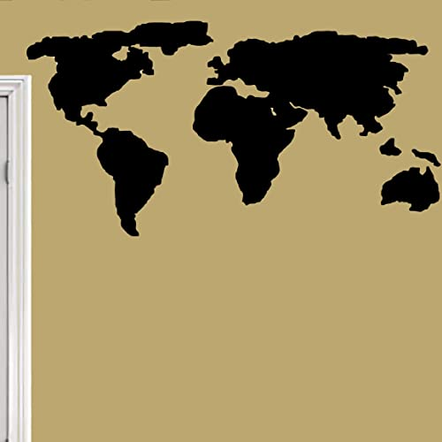 Amazon Com Modern World Map Silhouette Wall Decal Home Office