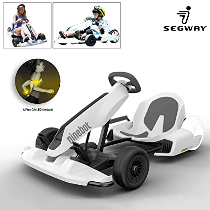 Ninebot GoKart Kit Fitting for Segway miniPRO Transporter (Self Balancing  Scooter Excluded), Big Racing Ride on Car Toy for Kids and Adults White