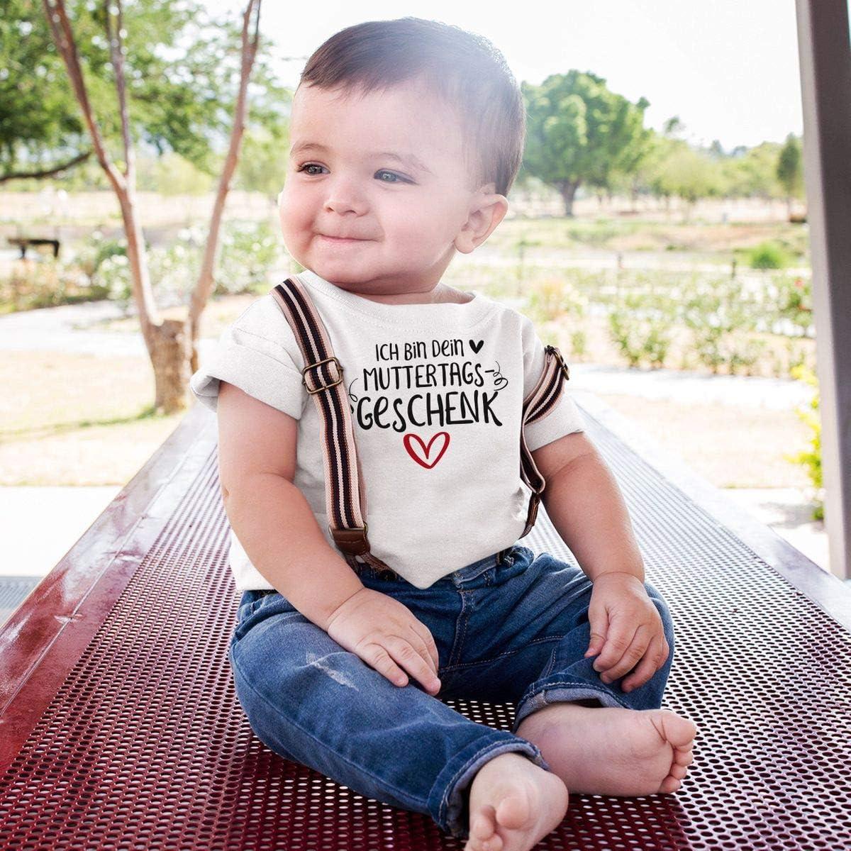 handbedruckt in Deutschland Mikalino Baby//Kinder T-Shirt mit Spruch f/ür Jungen M/ädchen Unisex Kurzarm Ich Bin Dein Muttertagsgeschenk