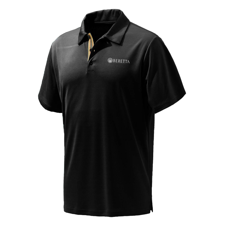 9ec36da34 Beretta Mens US TECH S/S Performance Polo Shirt, Black, XXL