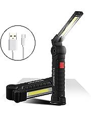 Recargable LED Cob Mano Linterna Magnético Inspección Luz de Trabajo Flexible