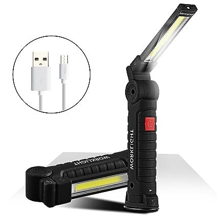 Led Lampe De Travail Rechargeable Lampe D Inspection Cob Portable