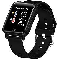 Smart Watch Blood Pressure Monitor, Heart Monitor Smart Watch, Temperature Scanner, IP67 Waterproof, SpO2+ HR+ BP…