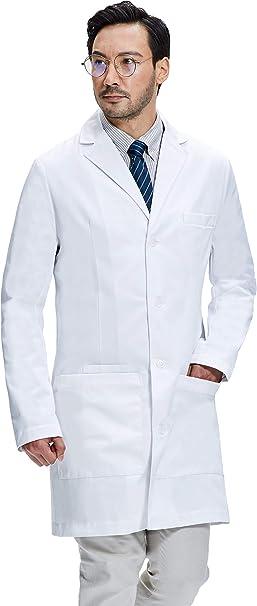 Dr. James Bata de Laboratorio Hombre, Corte Semientallado ...