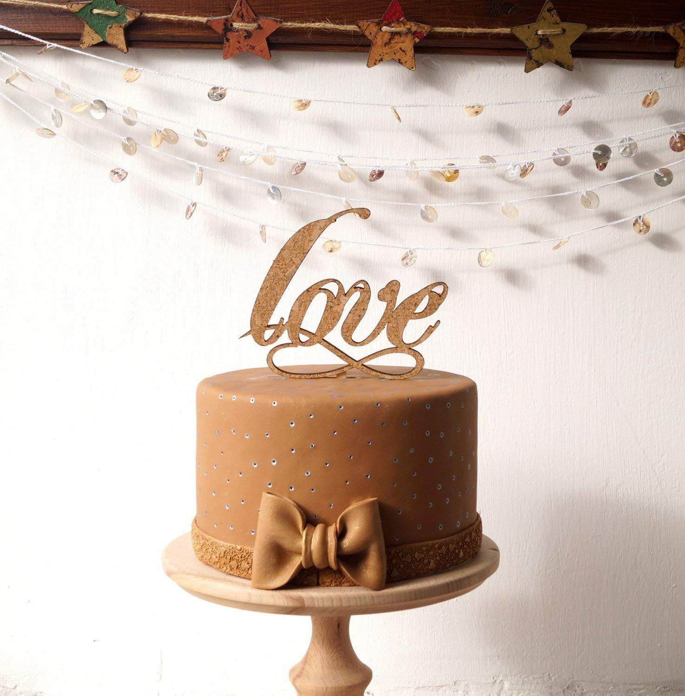 Amazon Wedding Cake Topper Rustic Wood And Cork Love Infinity Woodland Vineyard Farm Barn Cottage Decor