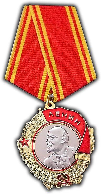 Reproducción de medalla militar al servicio ejemplar de la Orden de Lenin, de la Unión Soviética: Amazon.es: Deportes y aire libre