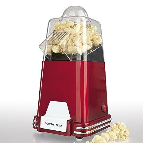Gourmet Maxx cafetera Popcorn 1100 W en diseño retro nostalgia (Préparation par circulación del aire caliente - sin aceite, extra rápido en, ...