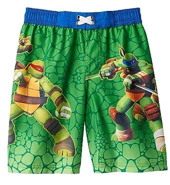0d1b3d19bd Nickelodeon Boys' Teenage Mutant Ninja Turtles Green Swim Trunks ...