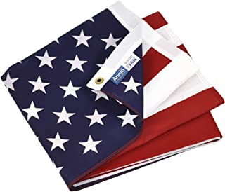 product image for Annin Flagmakers Model 19417 Poly/Cotton American Flag, 3x5 ft, 100% Made in USA Printed Stars and Stripes with Brass Grommets