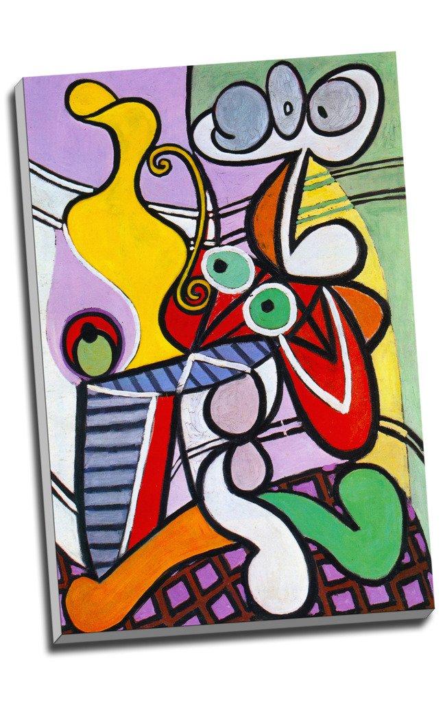 Pablo Picasso Peinture Excellent Still Life on Pedestal Impression sur toile Décoration murale Tableau Impressions sur toile Grand format A176,2x 50,8cm (76.2cm x 50.8cm)