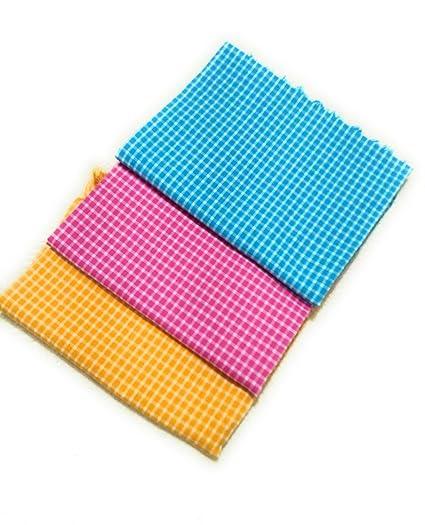 Cotton Colors Cotton Bath Towel (Large, Multicolor) -Pack of 3